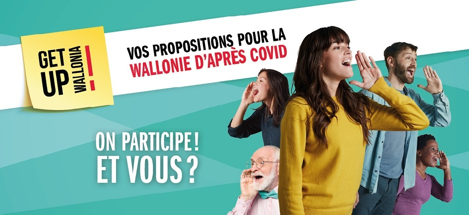 Get up Wallonia : participez à la relance de la Wallonie