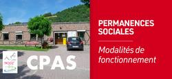 Modalités de fonctionnement des permanences sociales au CPAS à partir du 11 mai 2020
