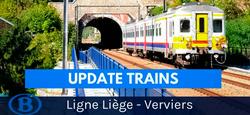 Point mobilité TRAINS : Ligne Liège-Verviers