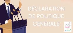 Déclaration de politique générale