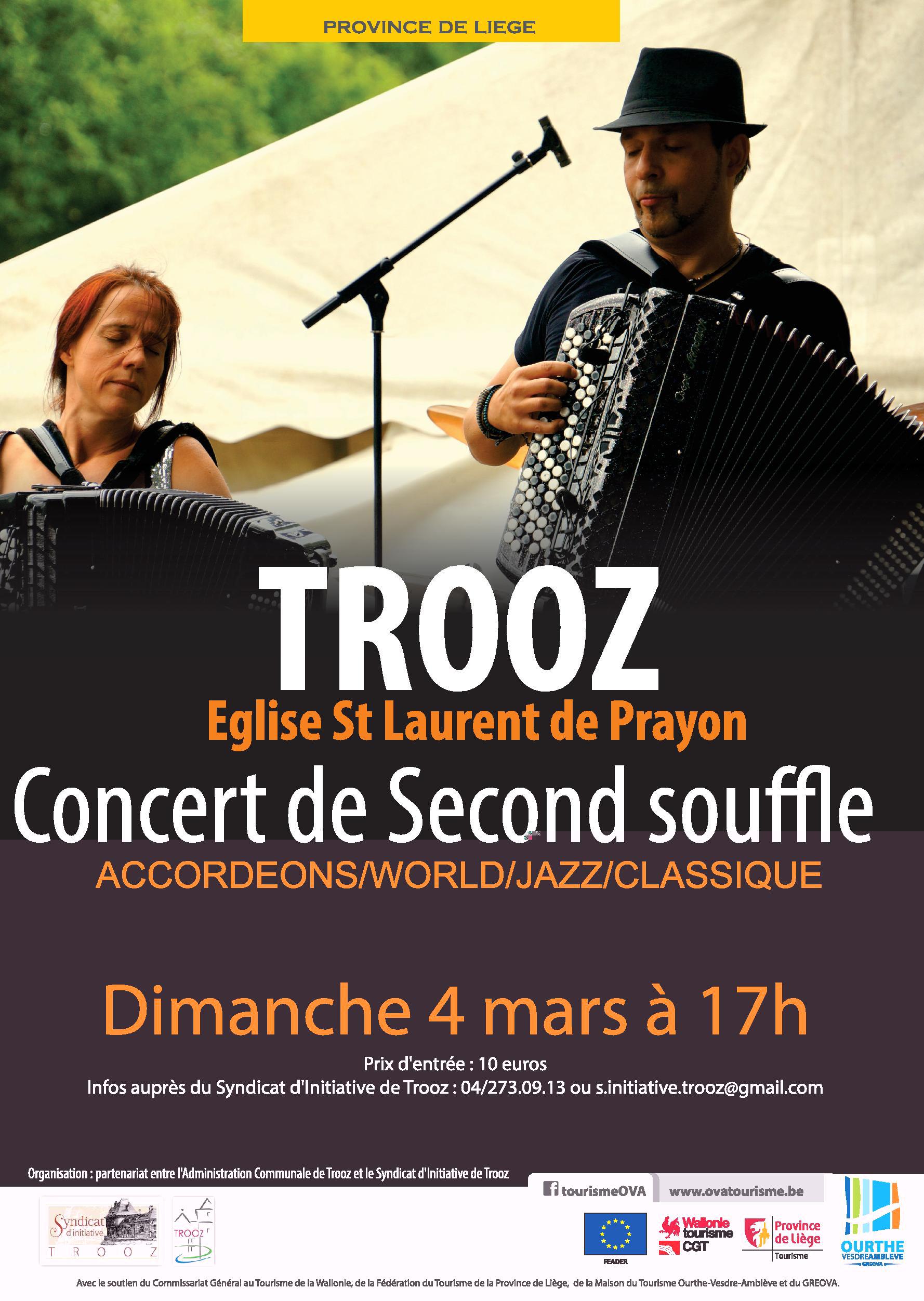 affiche concert Second Souffle